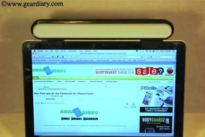 GearDiary Review:  Philips Notebook SoundBar