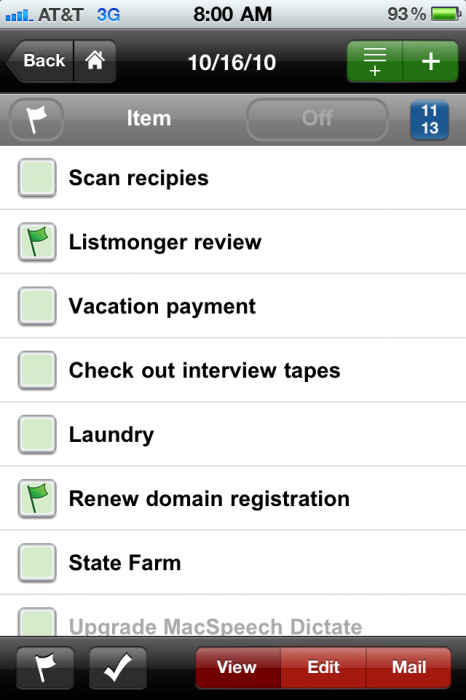 Review: ListMonger for iPhone