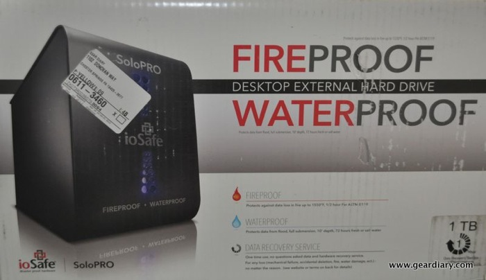 GearDiary Mini Review:  ioSafe SoloPRO Fire & Water Proof External Hard Drive
