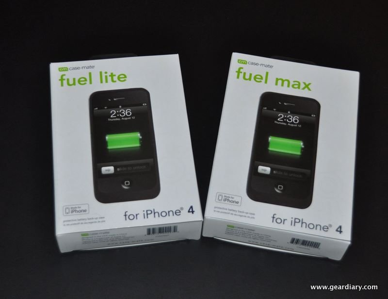 GearDiary iPhone 4 Gear Review:  Case-Mate Fuel Lite & Max, Packing Serious Power for the Power User