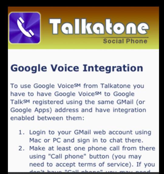 GearDiary GV Connect + Talkatone = iPad Phone