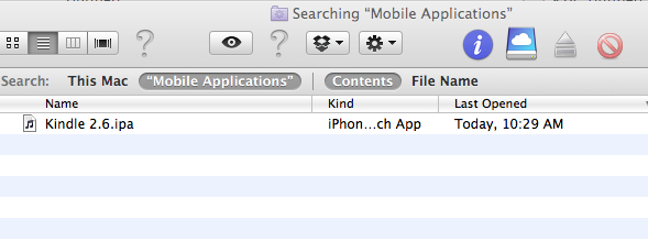 Searching Mobile Applications