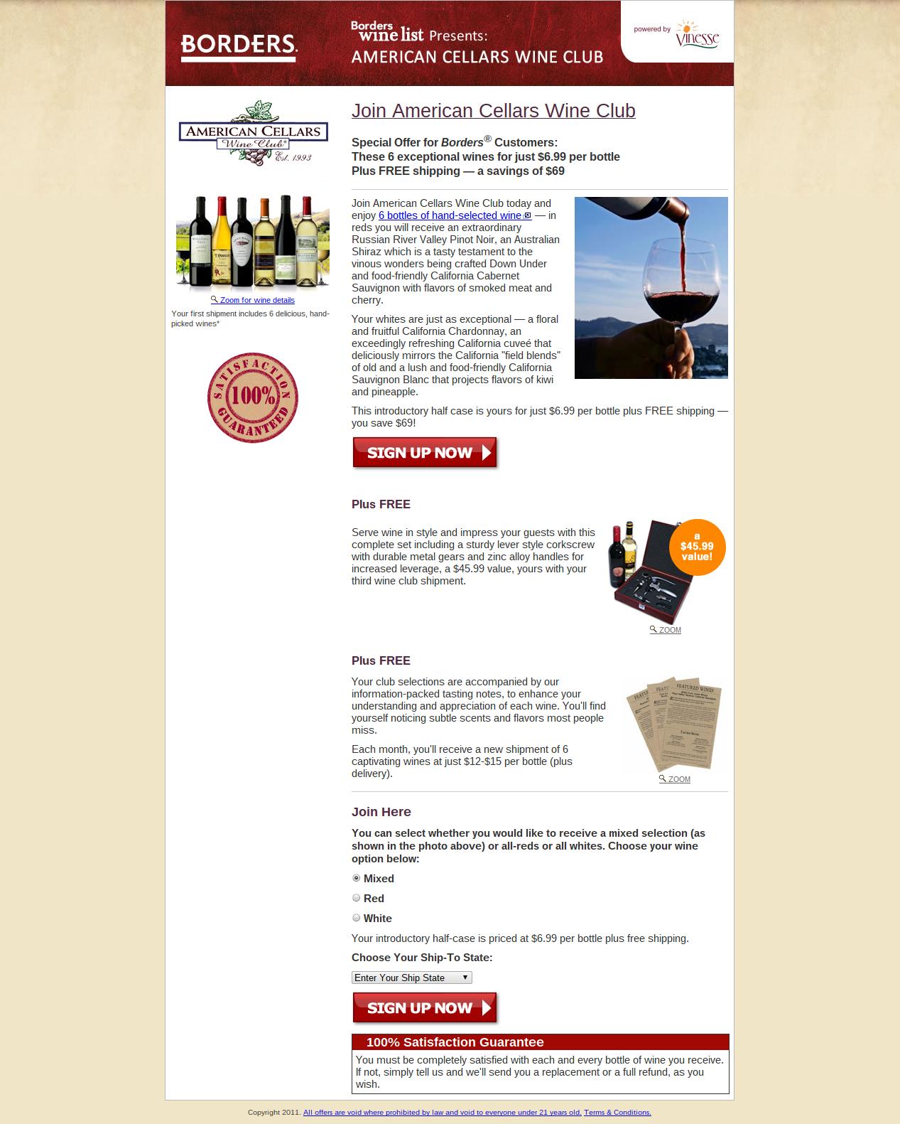 borders wine