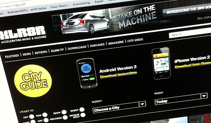 GearDiary Scion and XLR8R Update City Guide App