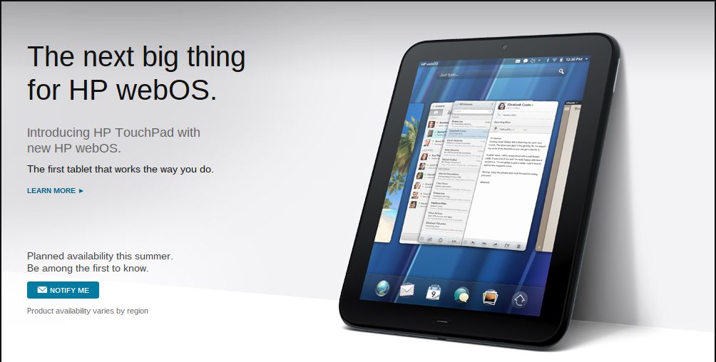 HP's WebOS Announcements