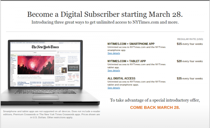 The New York Times Paywall Proves Paper Is Still King