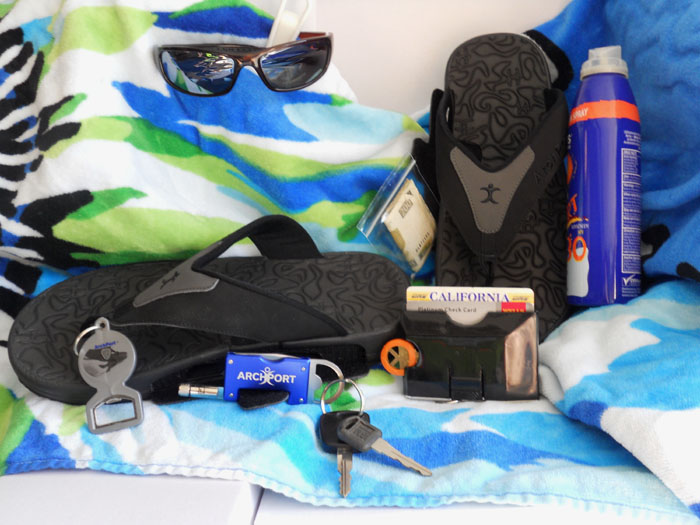 GearDiary ArchPort YogiStash Flip Flops Sport a Light, a Bottle Opener, and It Can Carry More!