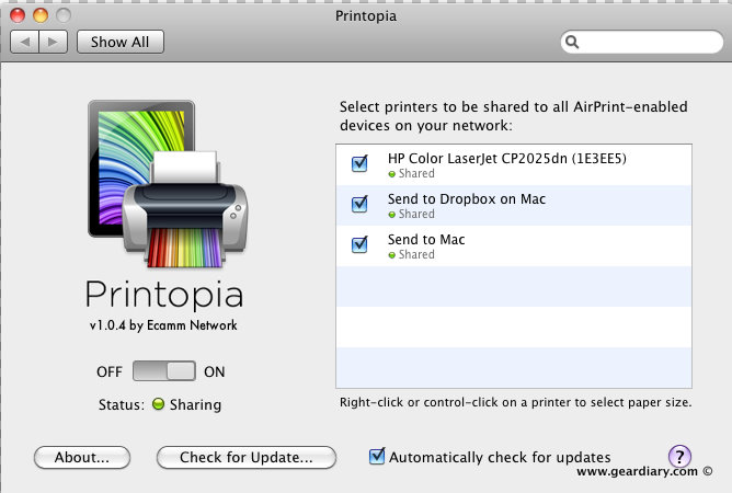 Printers Mac Software iPhone iPad Dropbox Cloud Computing