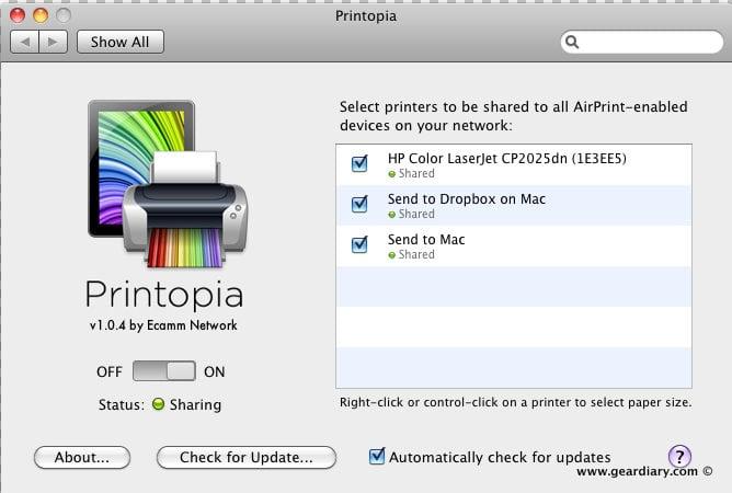 Printers Mac Software iPhone iPad Dropbox Cloud Computing