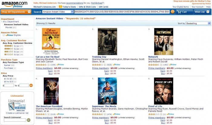 Movies and Streaming Video Amazon