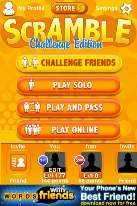 Word Scramble Challenge Edition