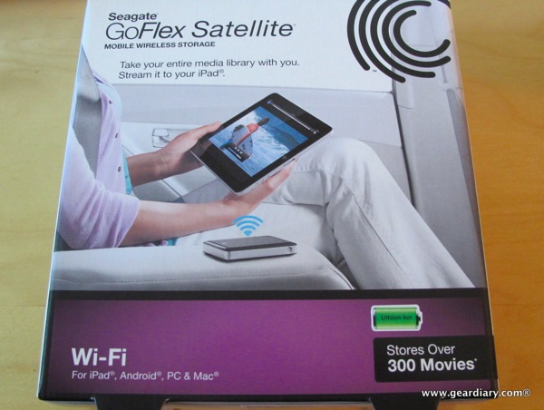 GearDiary iPad Accessory Review: Seagate GoFlex Satellite Mobile Wireless Storage
