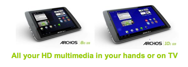 GearDiary ARCHOS Unveils Fastest Tablets with G9 Tablet Range