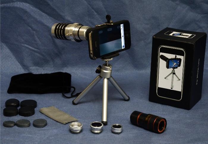 GearDiary USBFever Wide Angle + (Macro) + Fish Eye + 2X + 8X + 12X Telephoto Lens Combo for iPhone 4G