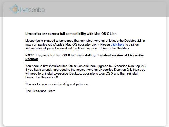 Productivity Mac Software Livescribe