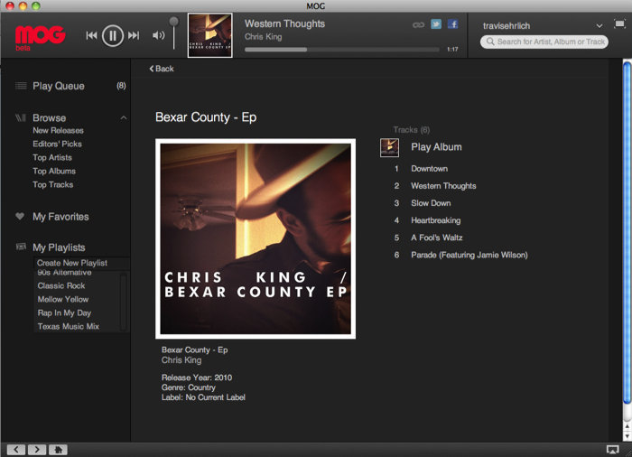 MOG Music Service Adds Mac Desktop Player