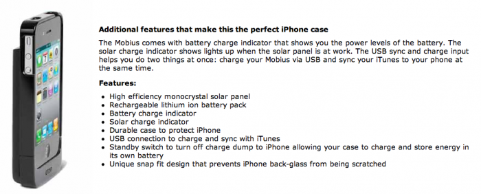 Etón Introduces Mobius NSP300B, a Solar iPhone 4 Charging Solution