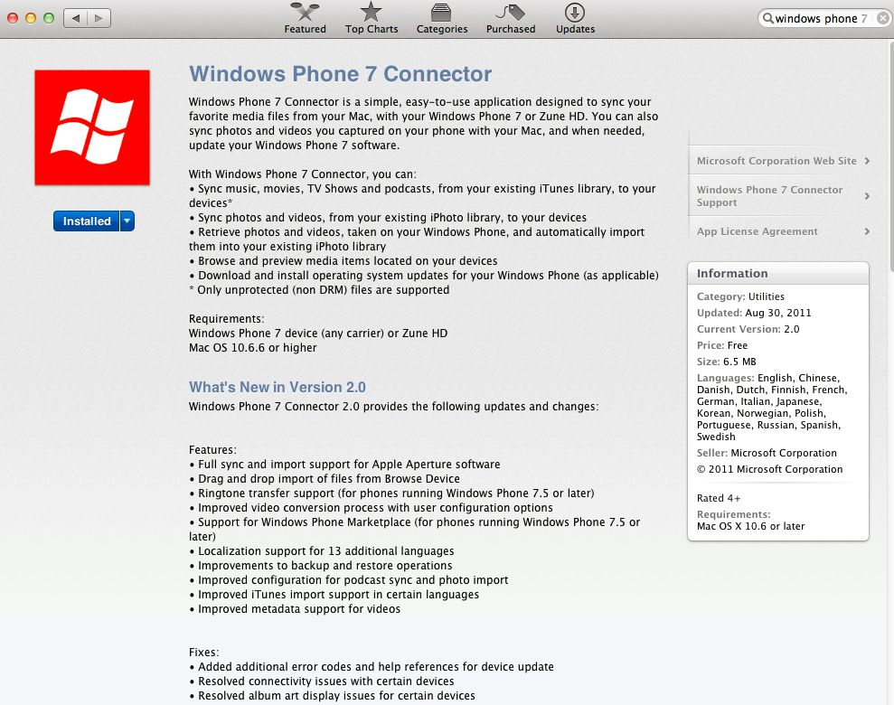 Windows Phone Apps Apple TV