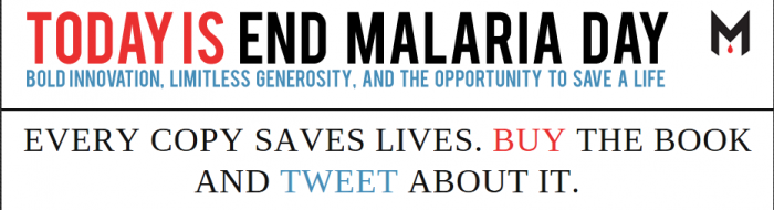 Today Only — Buy a Book, Save a Kid from Malaria!