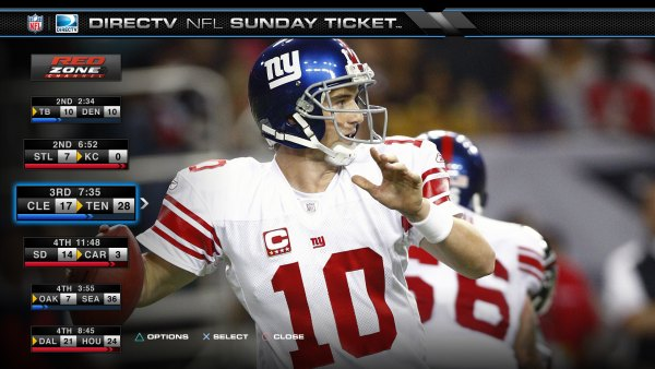 GearDiary PlayStation 3 Video Service Review: DirecTV NFL Sunday Ticket - The Beginning