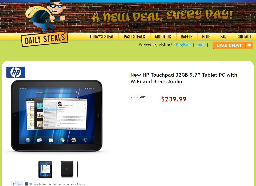 HP TouchPad - Beware the (non) Deals