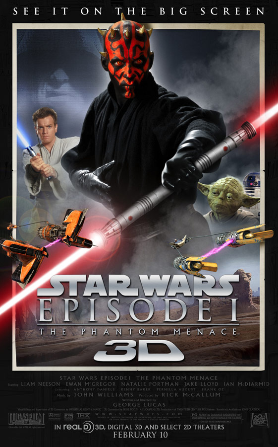 GearDiary Star Wars Phantom Menace 3D Trailer Arrives, Coming to Theaters Feb. 2012