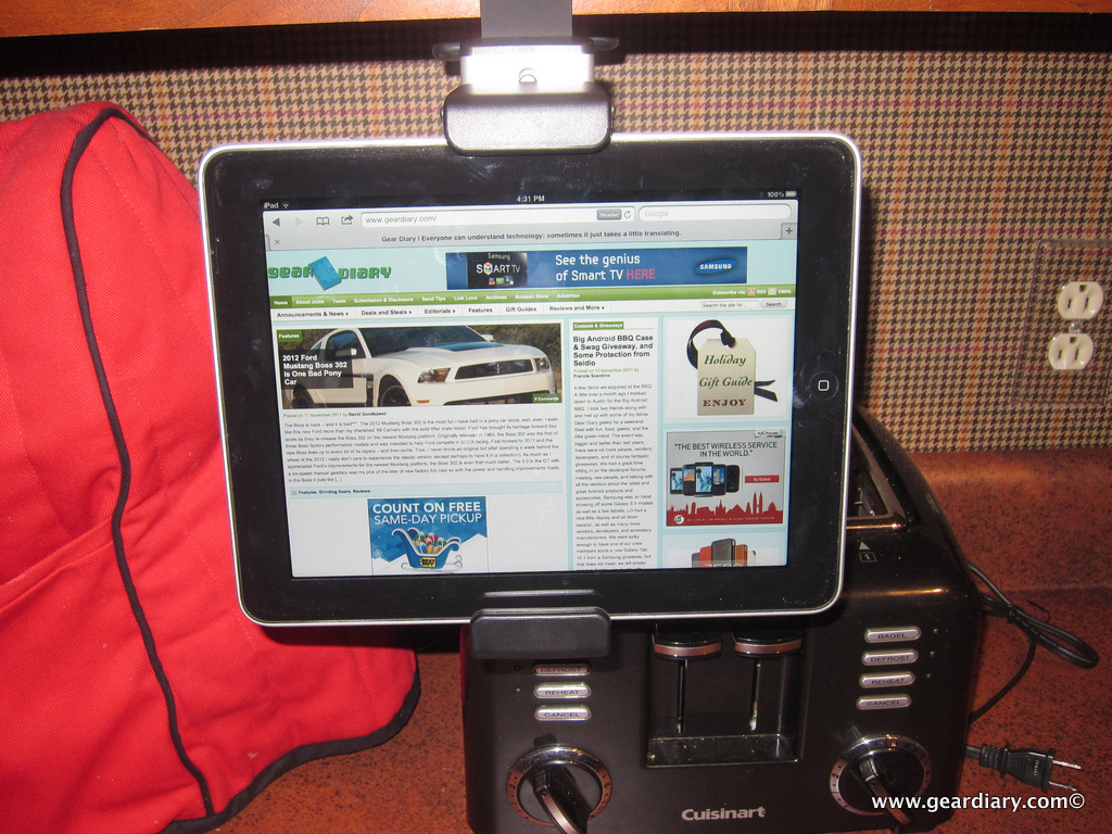 GearDiary The Belkin iPad Kitchen Cabinet Mount Review