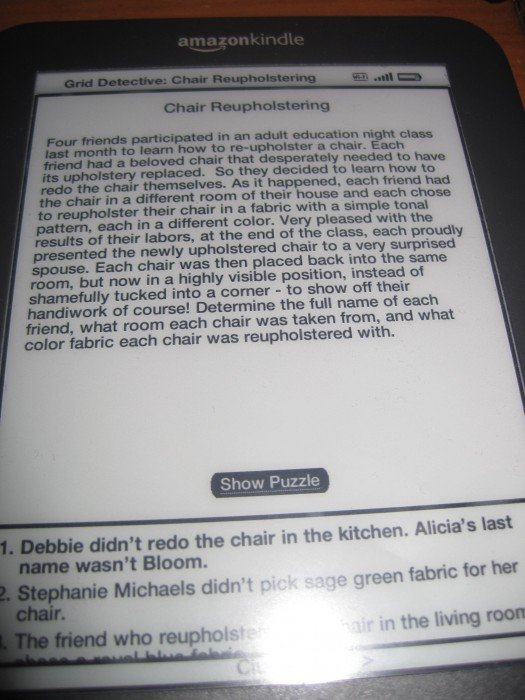 Grid Detective for Kindle Review
