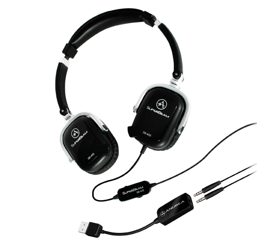 "GearDiary Andrea's SuperBeam Phones On-Ear Headphones Go ""Boom-less"""