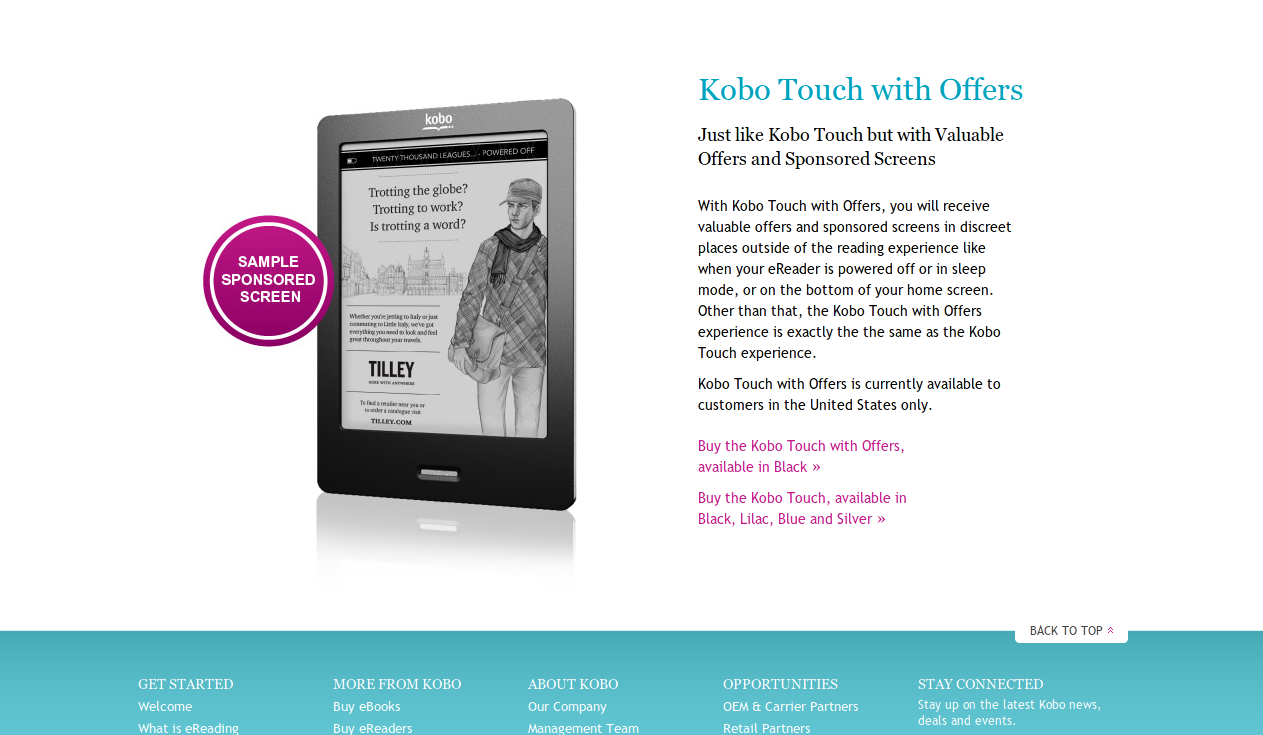 Kobo Reader Kobo eReaders eBooks