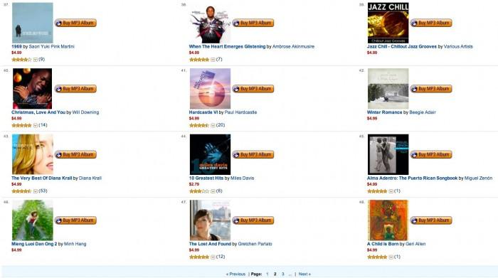 Amazon MP3 Store Mega Deals
