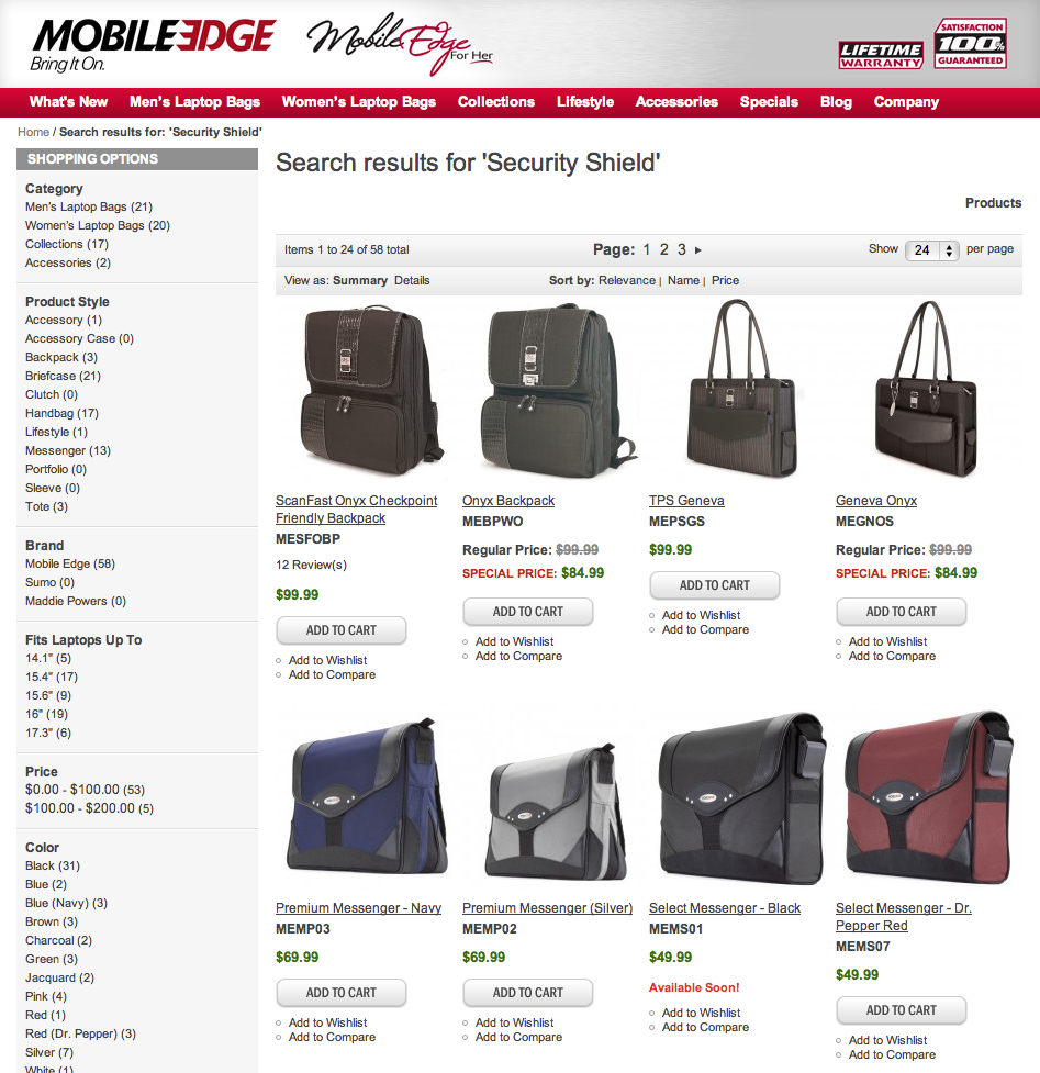 Security and Privacy Laptop Bags Gear Bags