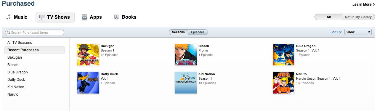 iTunes Purchase Download