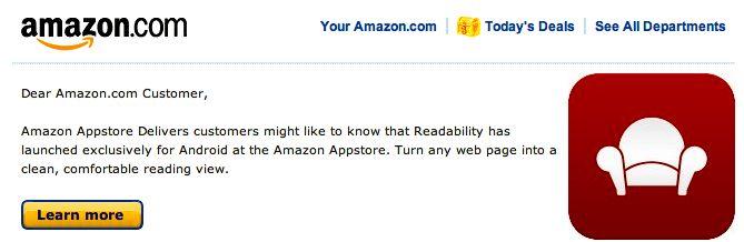 Amazon Readability