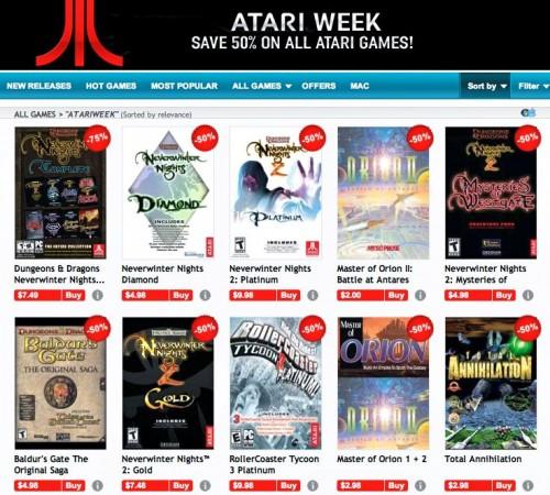GamersGate Atari Sale