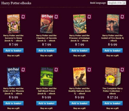 Pottermore Store Now Open, Harry Potter eBooks on 'Sale'!