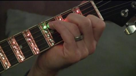 Musicalight LED Sleeve for Learning Chords and Songs on the Guitar