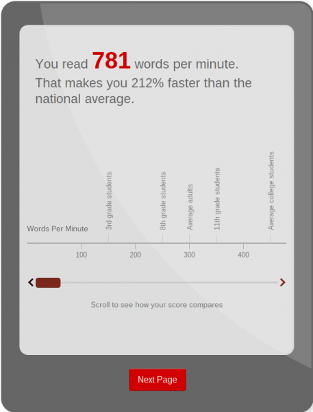 Staples Asks, 'How Fast Can You Read?'