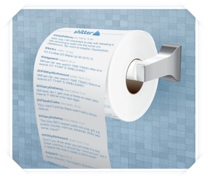 GearDiary Twitter Meets Toilet Humor with Sh-tter