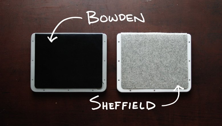 GearDiary BOWDEN + SHEFFIELD Minimalist iPad Cases; Kickstart This