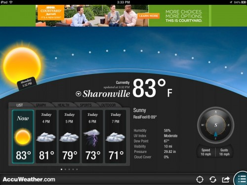 GearDiary AccuWeather App for iPad Updated to Version 2.0 - Now with Customizable Themes!