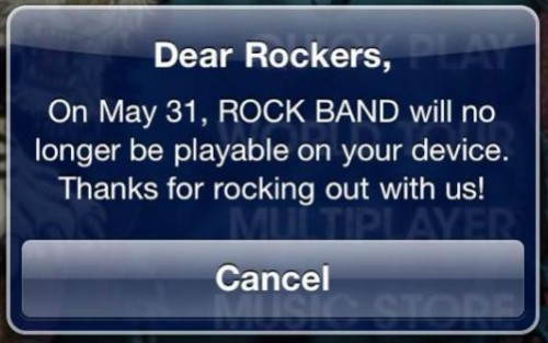 Rock Band for iOS is Can... errm NOT Cancelled, Still Brings Up Critical Issue