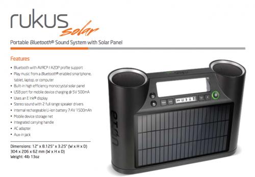 GearDiary Eton's Solar-Powered Rukus Is Ready for the Pool