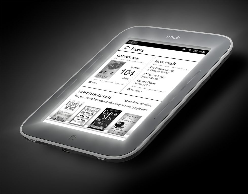 GearDiary Barnes & Noble NOOK with Glowlight Breaks into Television