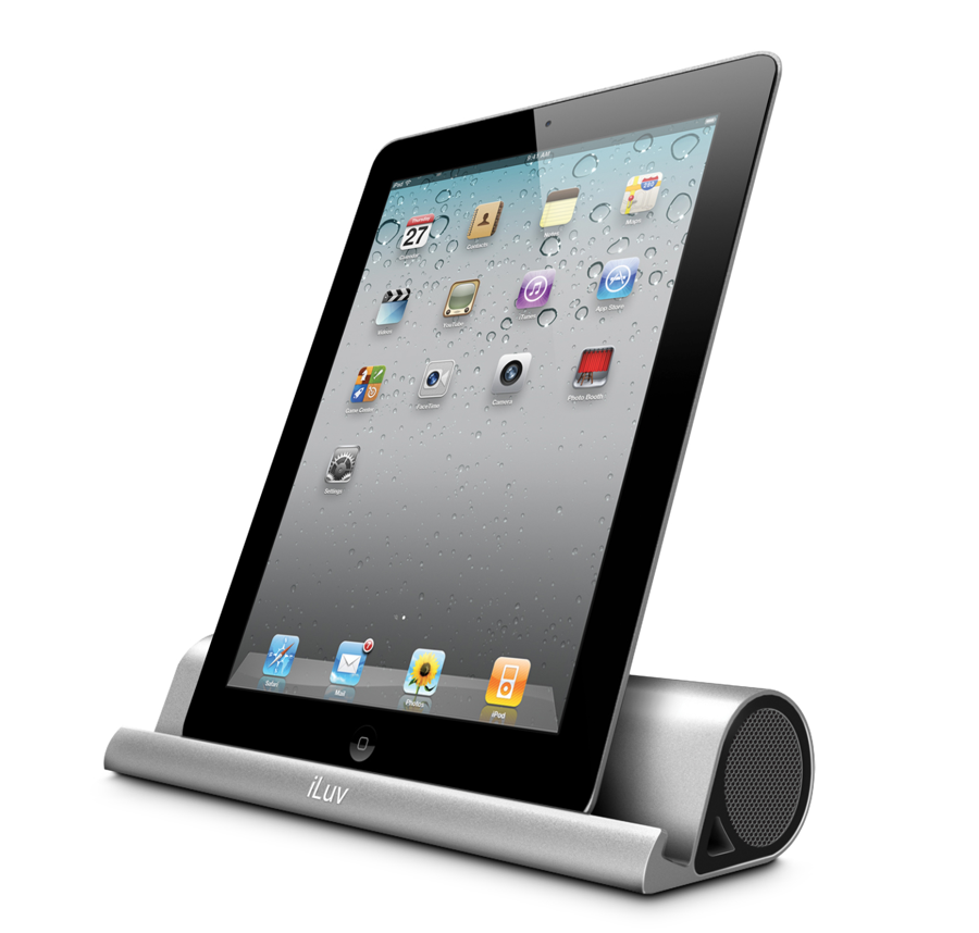 GearDiary Mo'Beats Portable Stereo Bluetooth Speaker Stand Brings Sleek Design and Good Functionality to a Tablet Near you