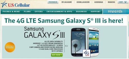 GearDiary U.S. Cellular's Samsung Galaxy S III Available This Week