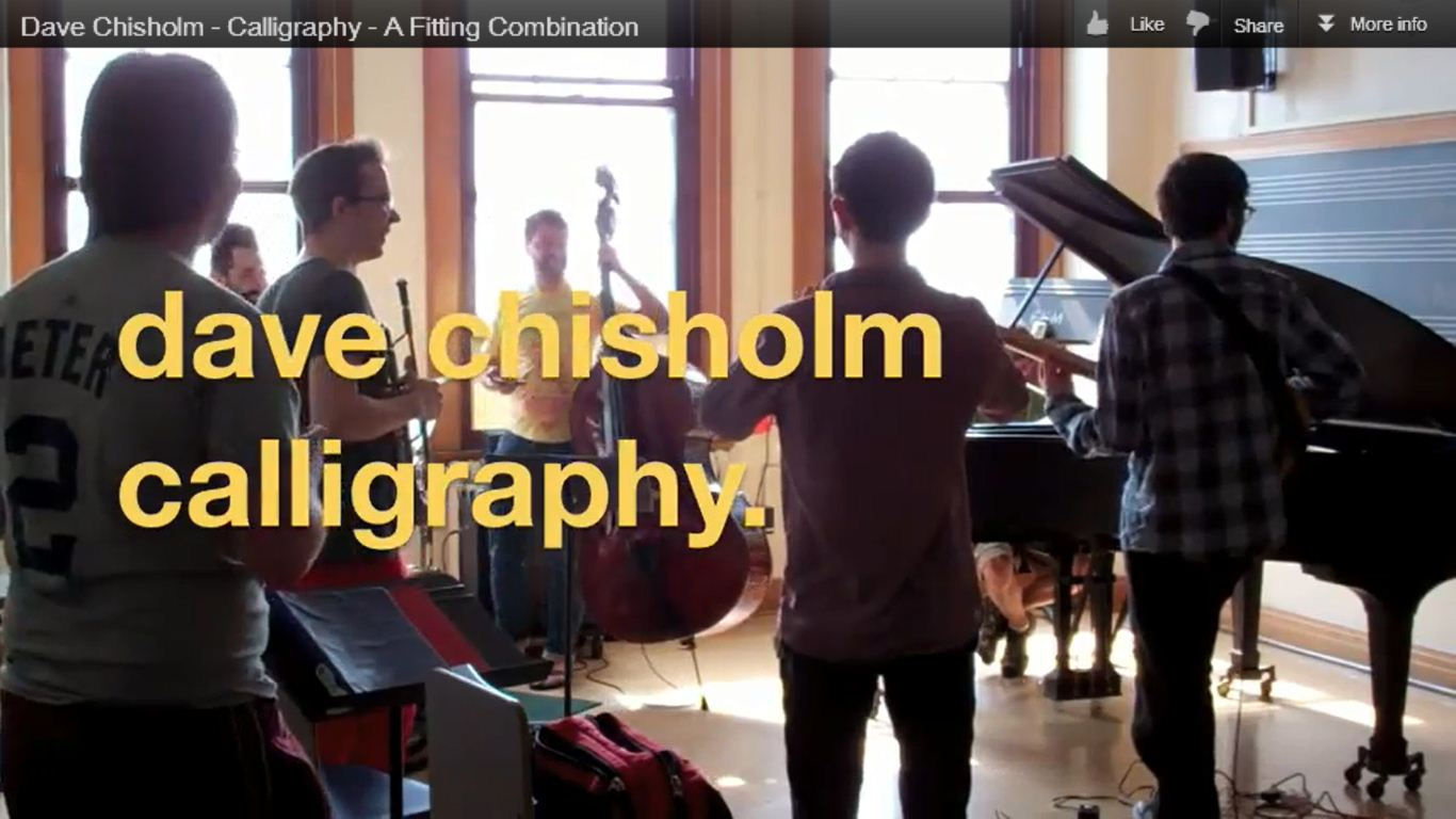 Dave Chisholm Calligraphy