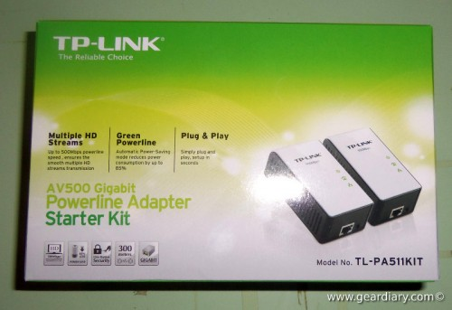 GearDiary TP-Link AV500 Gigabit Powerline Adapter Starter Kit Review