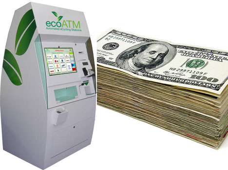 ecoATM recycle electronics for cash