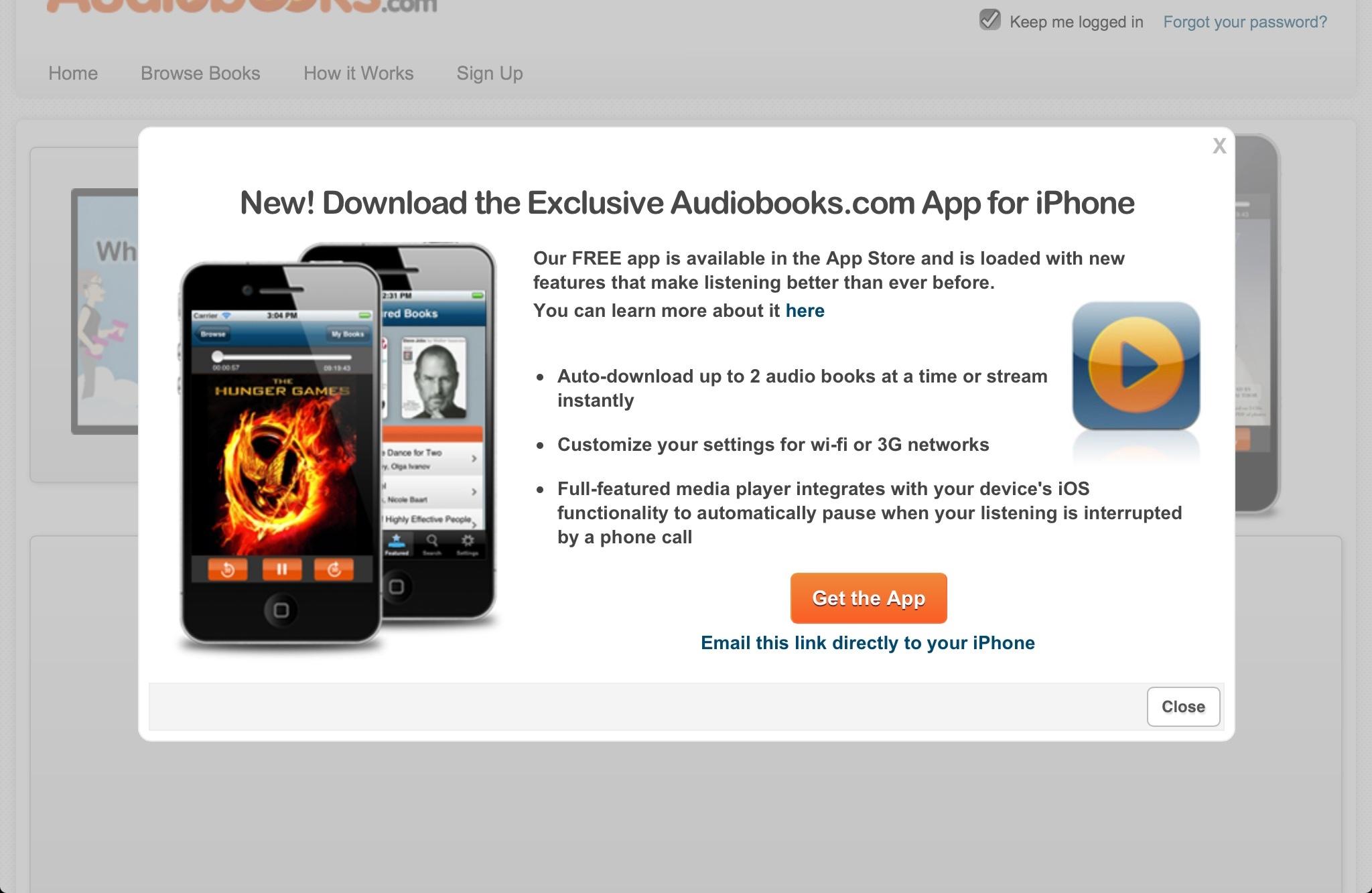 Audiobooks.com Gets Download Friendly